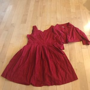 c4cf0c526493 Lindy Bop Dresses | Red Marianne Dress Jacket Set Size 16 | Poshmark